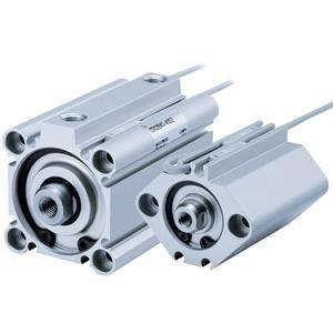 pneumatic cylinder / double-rod / double-acting / single-acting