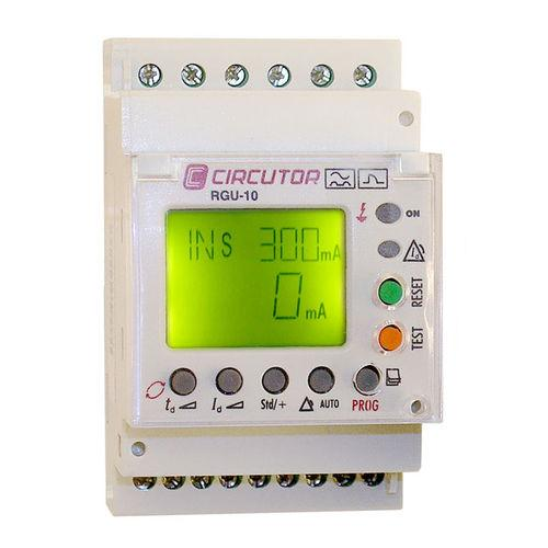 earth-leakage protection relay / current / digital / DIN rail