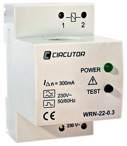 earth-leakage protection relay / DIN rail / modular