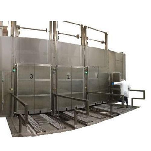 large dimension cooker / steam / for the food industry / stainless steel
