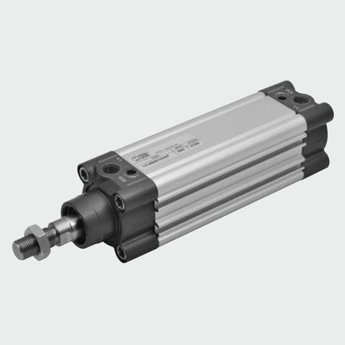 pneumatic cylinder / double-acting / single-acting / ISO