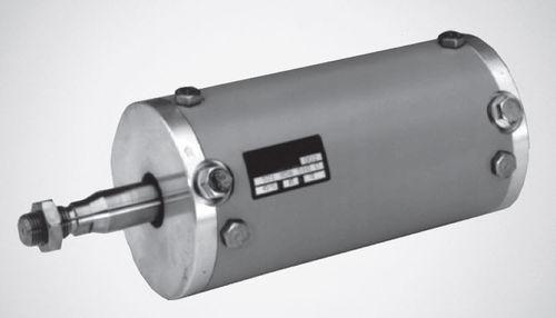 pneumatic cylinder / single-acting / membrane / steel