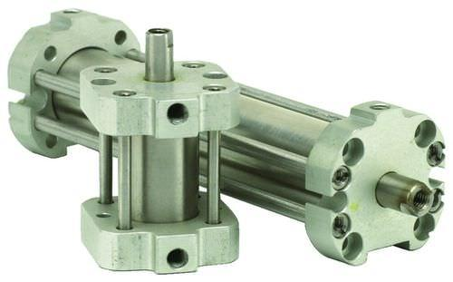 pneumatic cylinder / single-acting / stainless steel