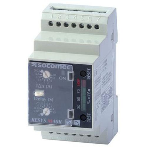 earth-leakage protection relay / DIN rail / differential