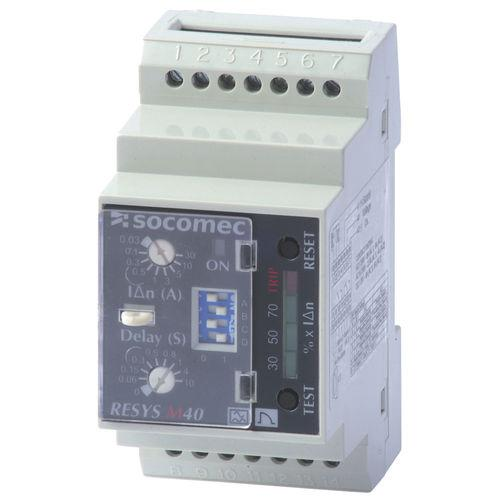earth-leakage protection relay / DIN rail / adjustable / time delay