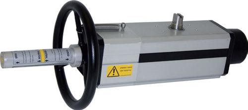 linear actuator / pneumatic / spring-return / double-acting